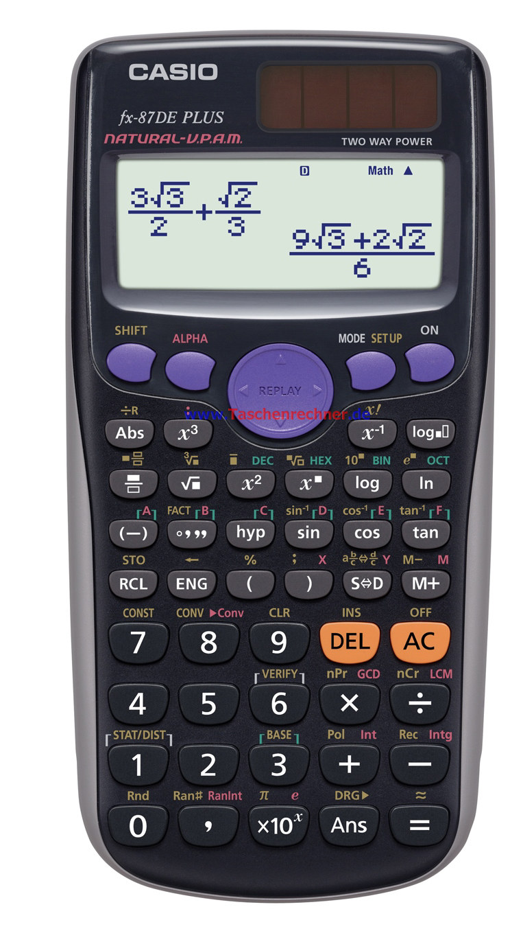 Casio Fx 87 De Plus Programmierbar
